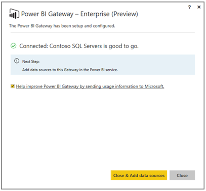 "Gateway ""good to go"""