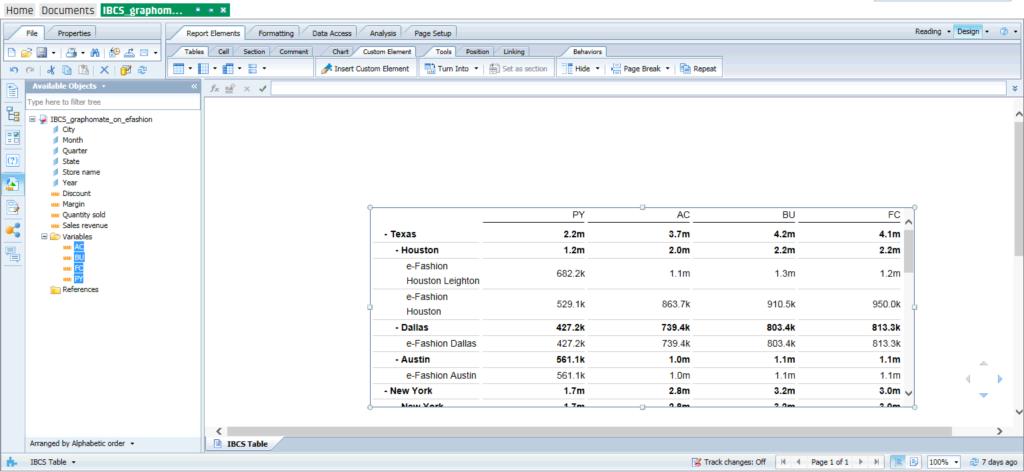 Die Tabellenkomponente enthält die Möglichkeit des Auf- und Zuklappens von Hierarchieelementen.