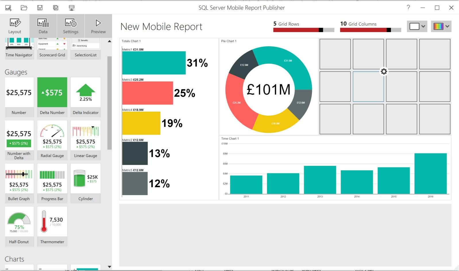 Abbildung 7: SQL Server Mobile Report Publisher
